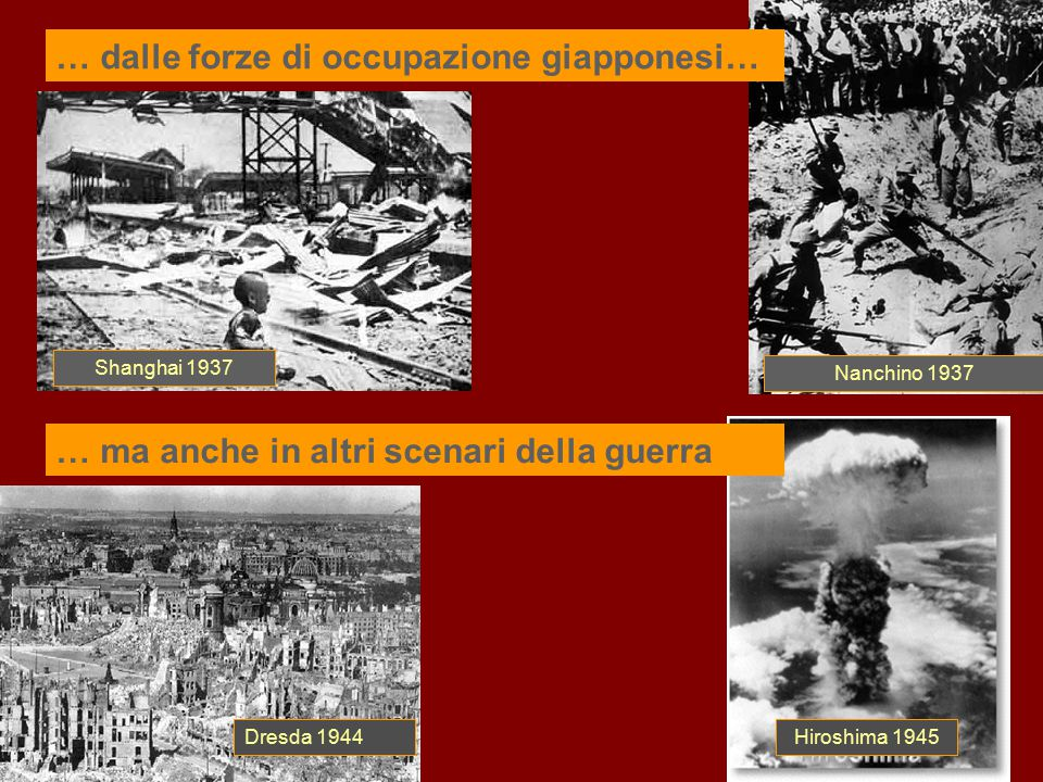 … dalle forze di occupazione giapponesi…