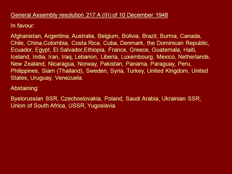 General Assembly resolution 217 A (III) of 10 December 1948