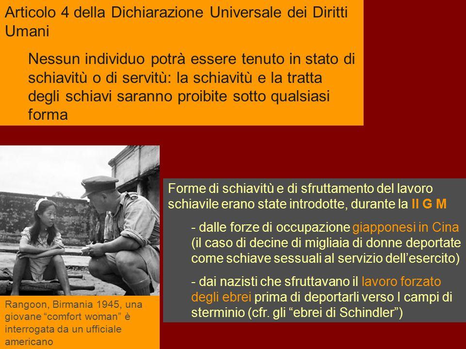 Articolo 4 della Dichiarazione Universale dei Diritti Umani