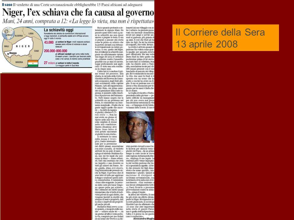 Il Corriere della Sera 13 aprile 2008