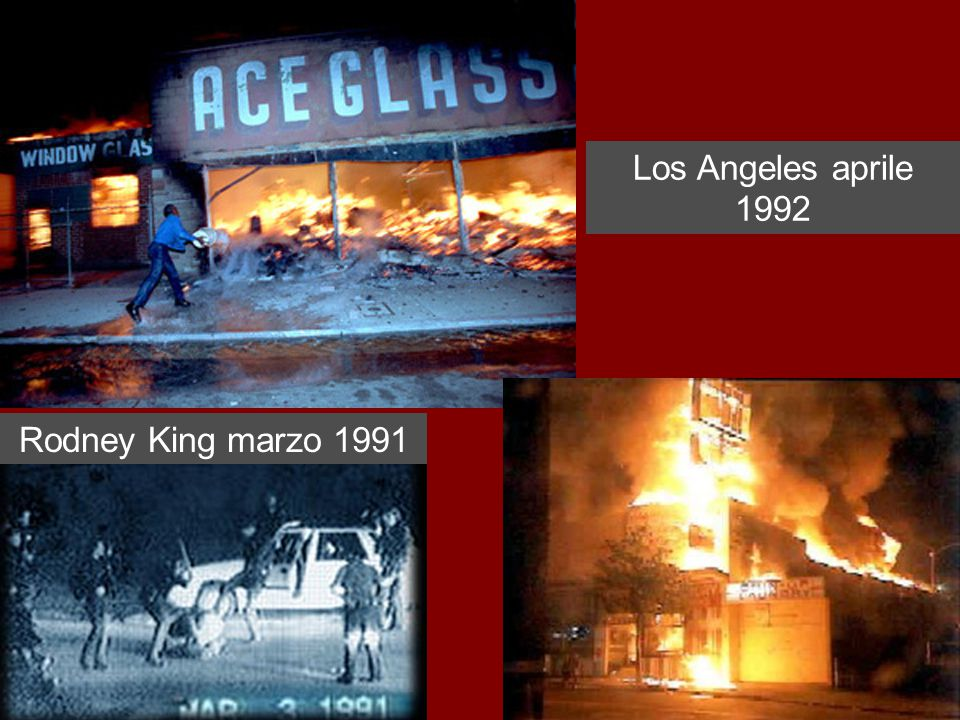 Los Angeles aprile 1992 Rodney King marzo 1991