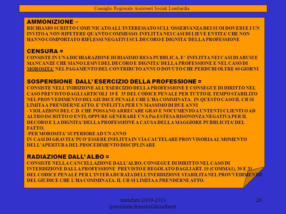 SOSPENSIONE DALL' ESERCIZIO DELLA PROFESSIONE =