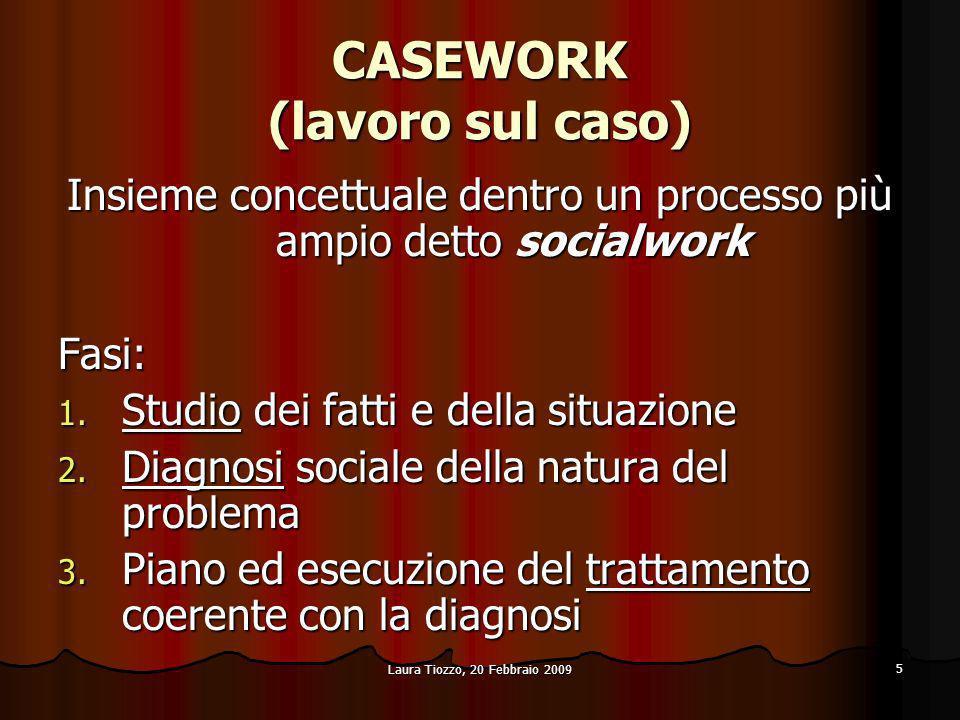 CASEWORK (lavoro sul caso)