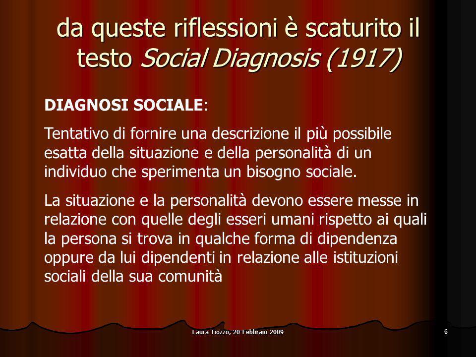 da queste riflessioni è scaturito il testo Social Diagnosis (1917)