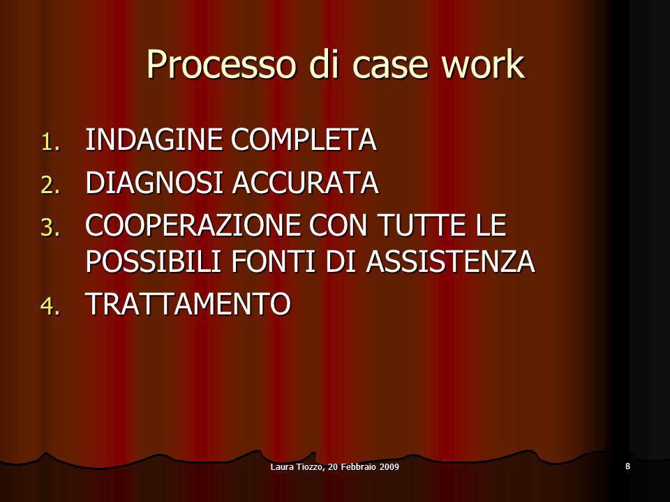 Processo di case work INDAGINE COMPLETA DIAGNOSI ACCURATA