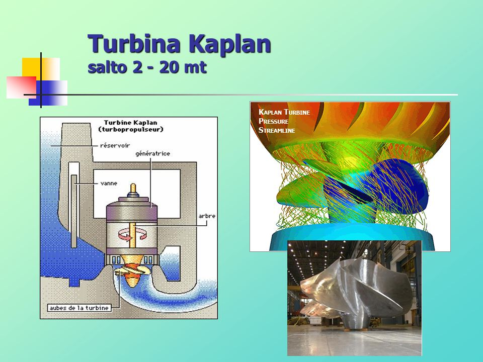 Turbina Kaplan salto 2 - 20 mt