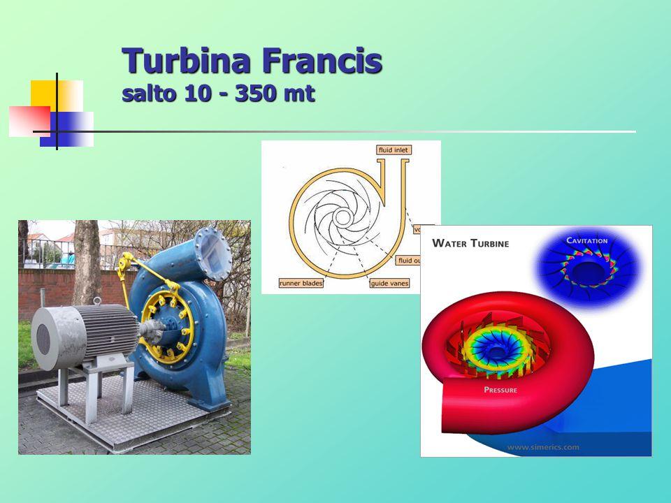 Turbina Francis salto 10 - 350 mt
