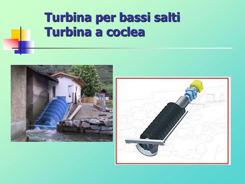 Turbina per bassi salti Turbina a coclea
