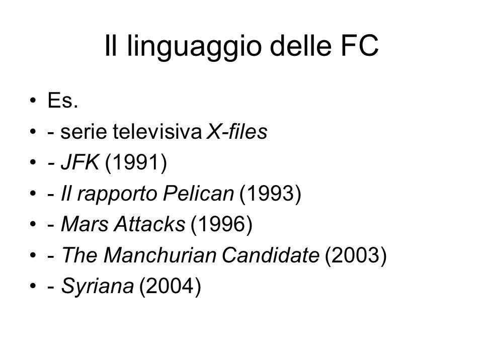 Il linguaggio delle FC Es. - serie televisiva X-files - JFK (1991)