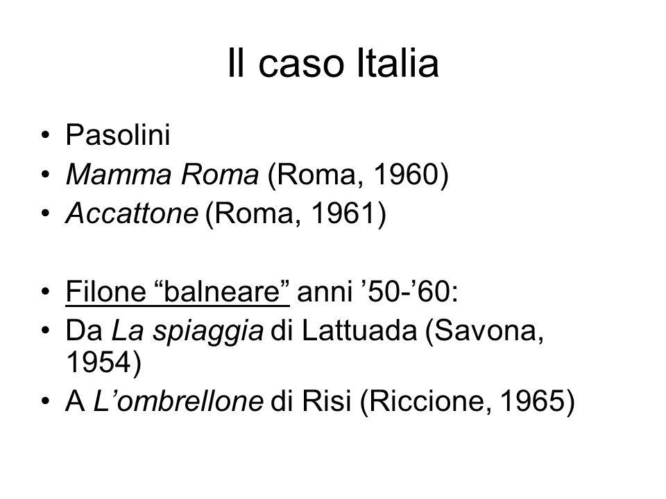Il caso Italia Pasolini Mamma Roma (Roma, 1960) Accattone (Roma, 1961)