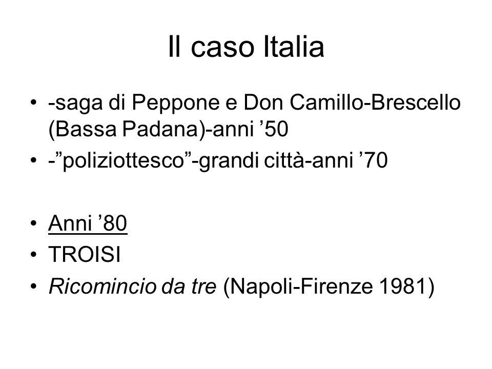 Il caso Italia -saga di Peppone e Don Camillo-Brescello (Bassa Padana)-anni '50. - poliziottesco -grandi città-anni '70.