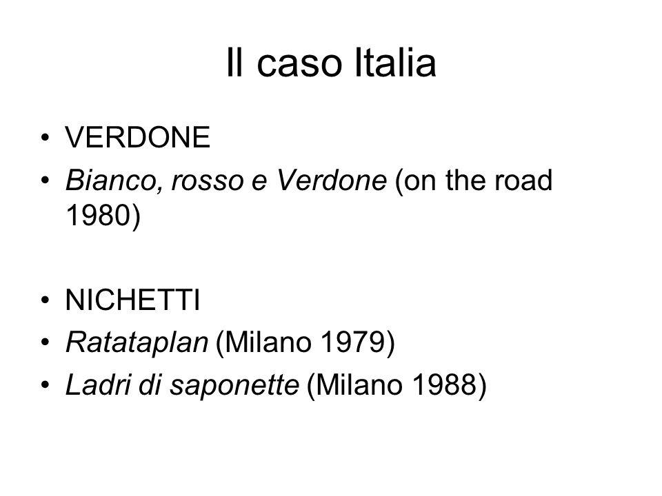Il caso Italia VERDONE Bianco, rosso e Verdone (on the road 1980)