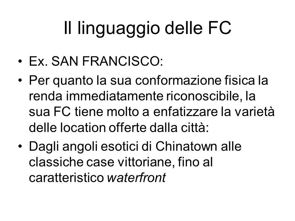 Il linguaggio delle FC Ex. SAN FRANCISCO: