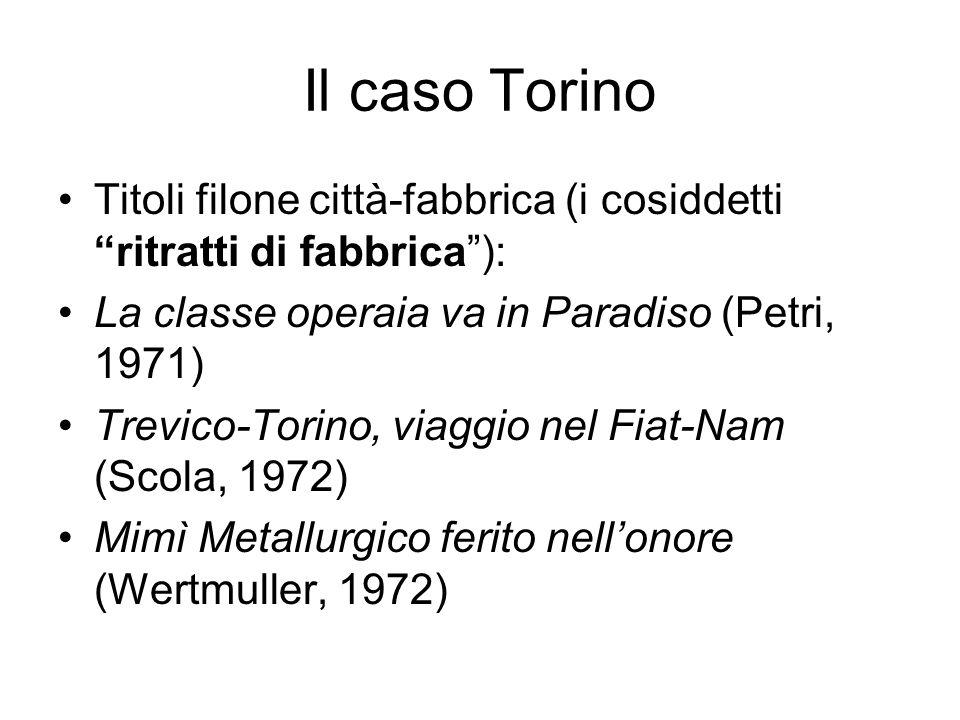 Il caso Torino Titoli filone città-fabbrica (i cosiddetti ritratti di fabbrica ): La classe operaia va in Paradiso (Petri, 1971)