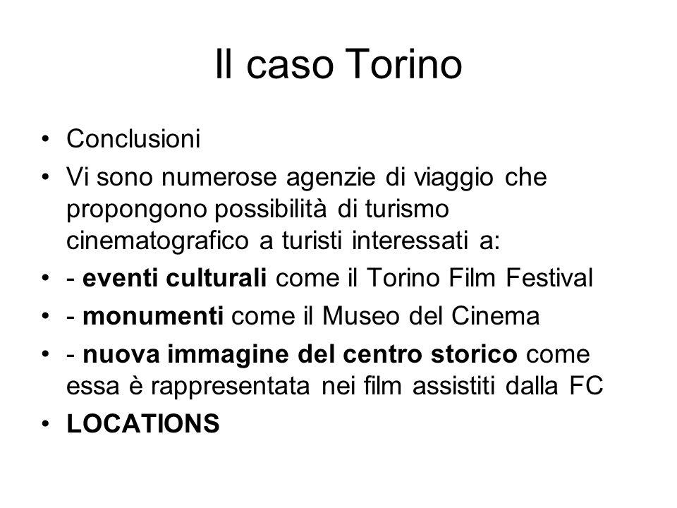 Il caso Torino Conclusioni