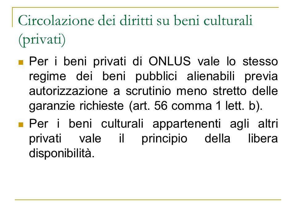 Circolazione dei diritti su beni culturali (privati)