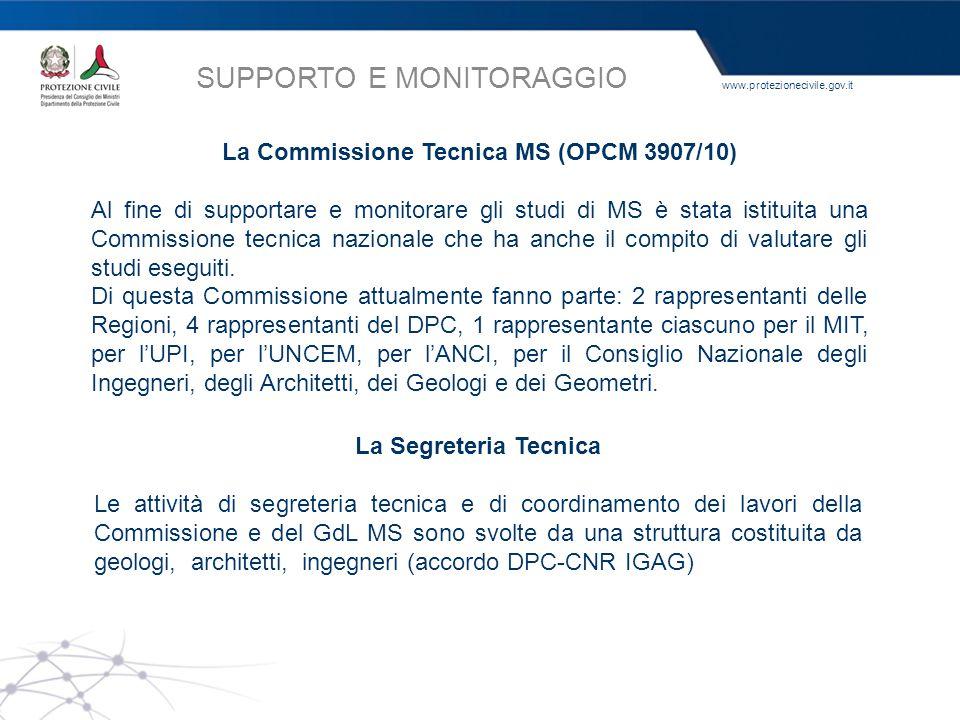 La Commissione Tecnica MS (OPCM 3907/10)