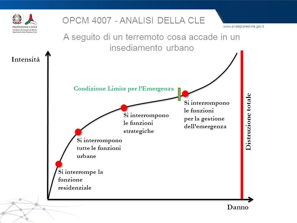OPCM 4007 - ANALISI DELLA CLE