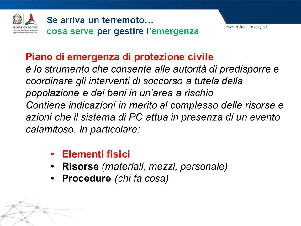 Piano di emergenza di protezione civile