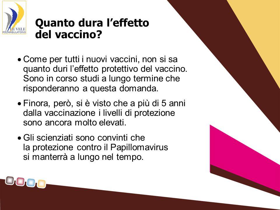 Quanto dura l'effetto del vaccino