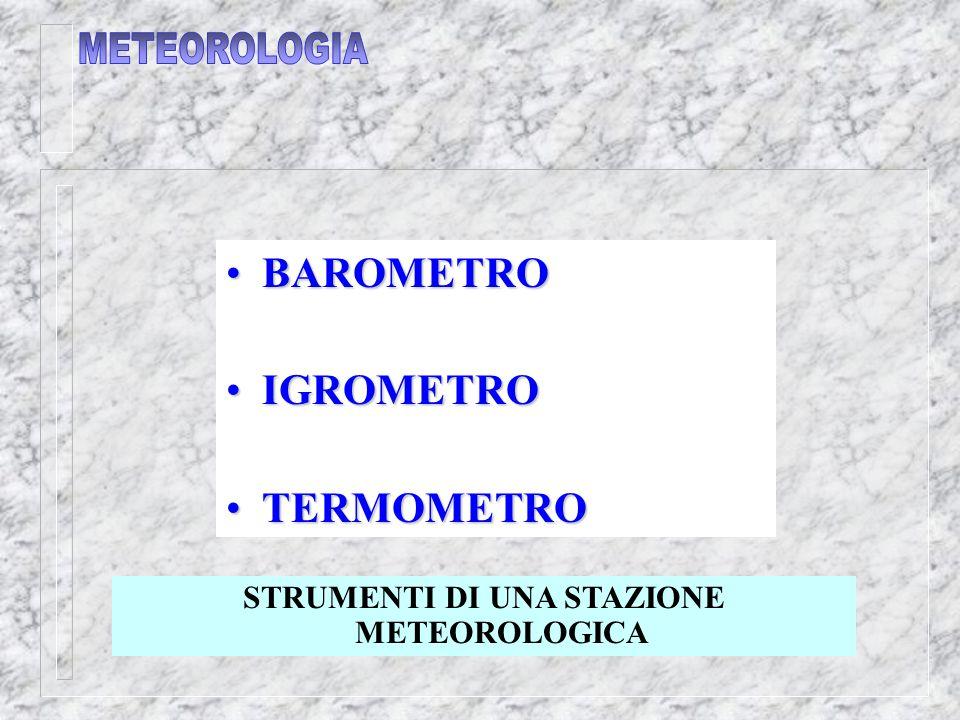STRUMENTI DI UNA STAZIONE METEOROLOGICA