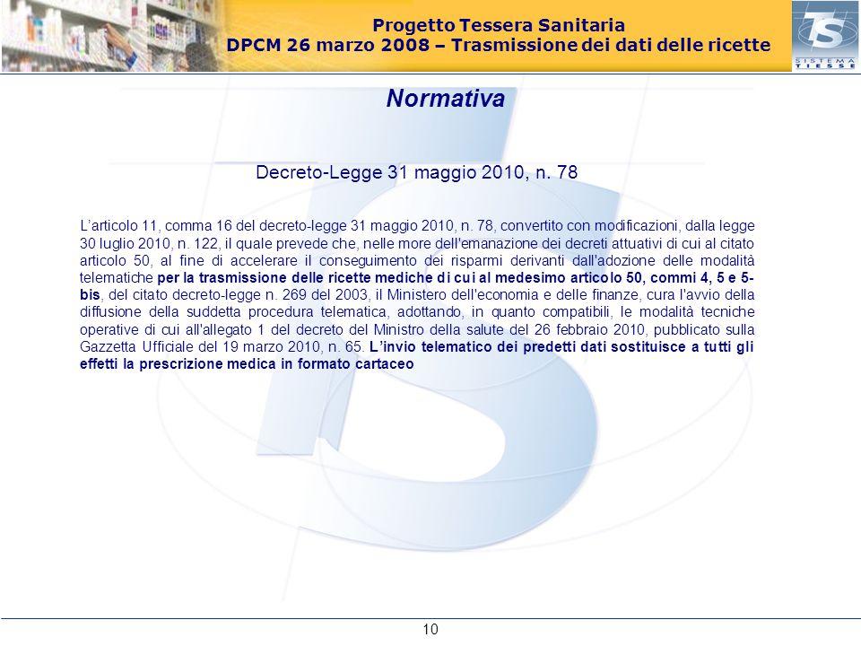 Decreto-Legge 31 maggio 2010, n. 78