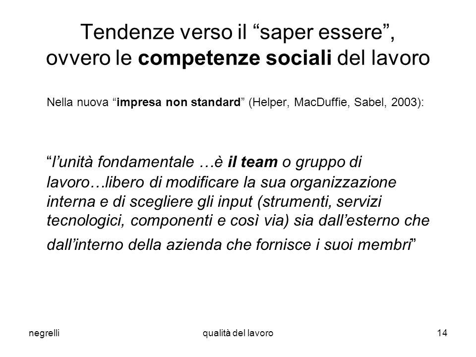 Nella nuova impresa non standard (Helper, MacDuffie, Sabel, 2003):