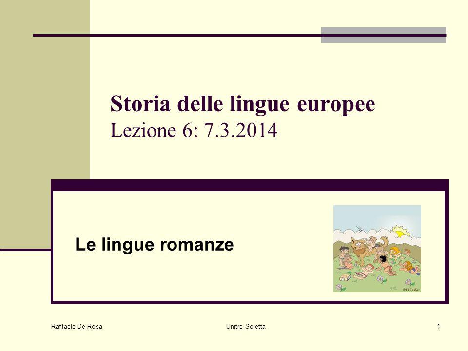 Storia delle lingue europee Lezione 6: 7.3.2014