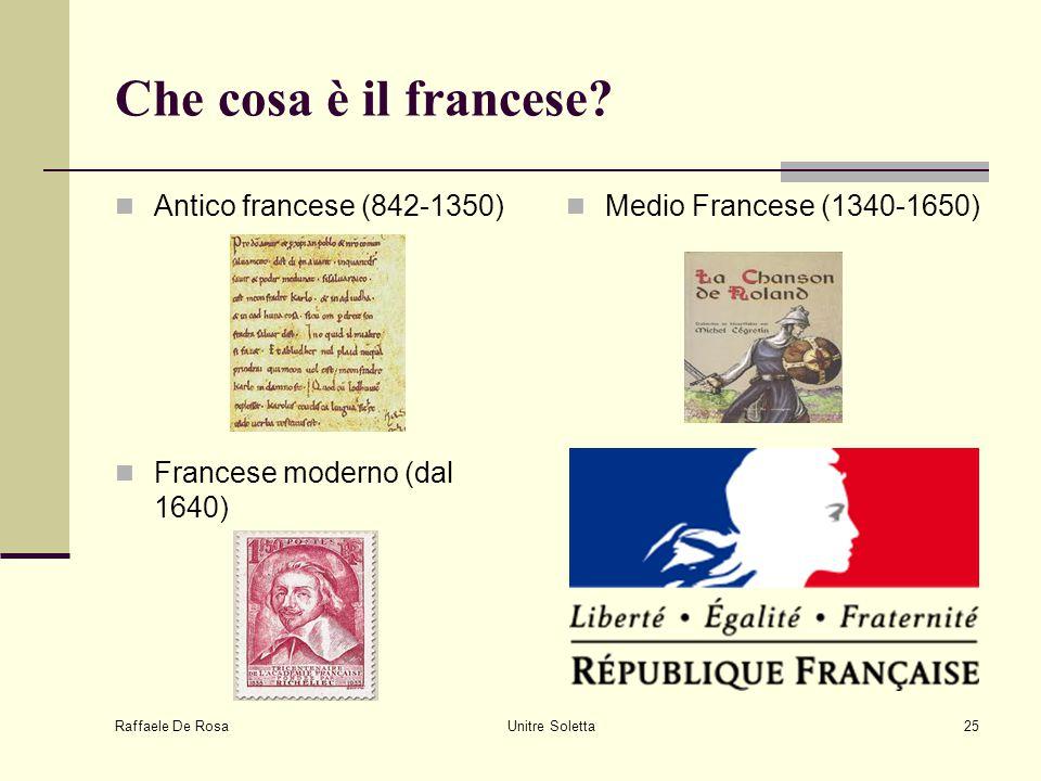 Che cosa è il francese Antico francese (842-1350)