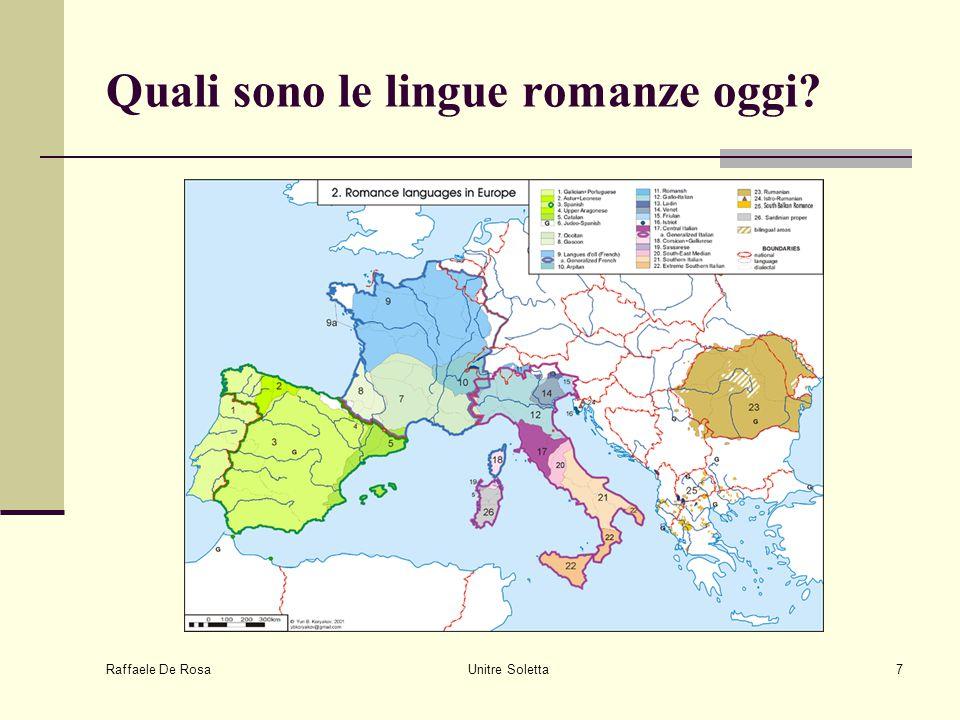 Quali sono le lingue romanze oggi