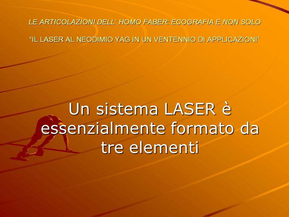 Un sistema LASER è essenzialmente formato da tre elementi