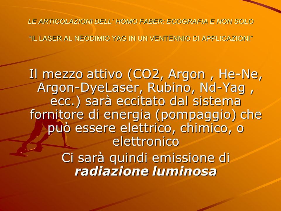 Ci sarà quindi emissione di radiazione luminosa