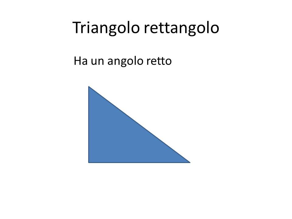 Triangolo rettangolo Ha un angolo retto