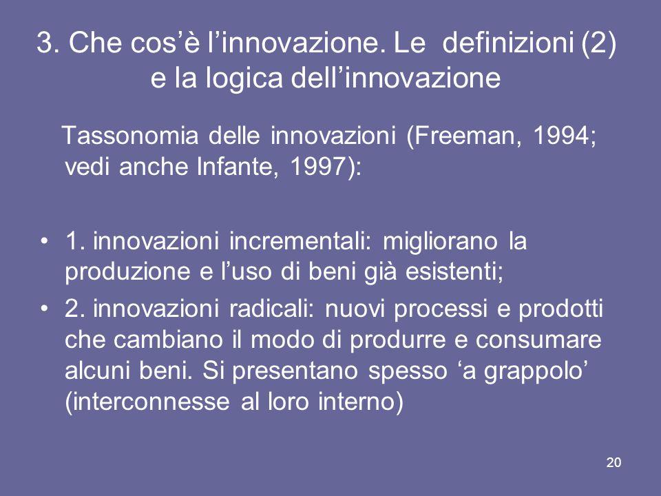 3. Che cos'è l'innovazione