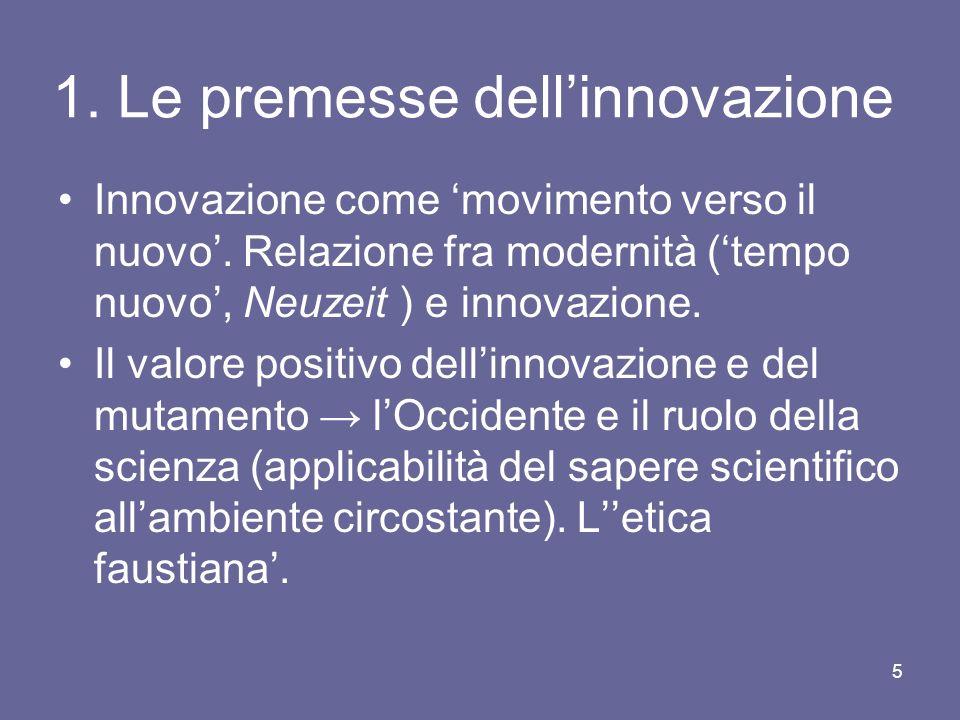 1. Le premesse dell'innovazione