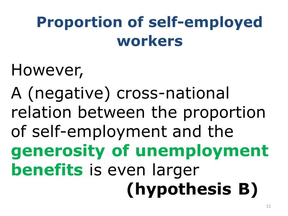 Proportion of self-employed workers