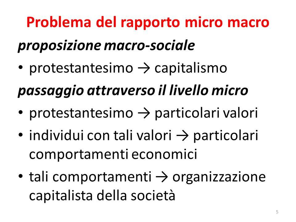 Problema del rapporto micro macro