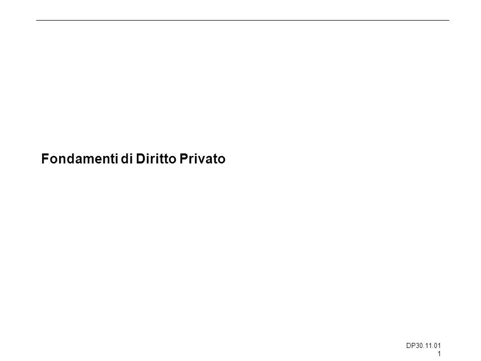 Fondamenti di Diritto Privato