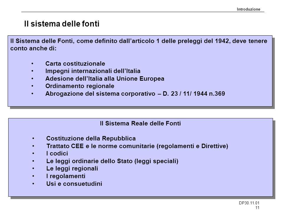 Il Sistema Reale delle Fonti