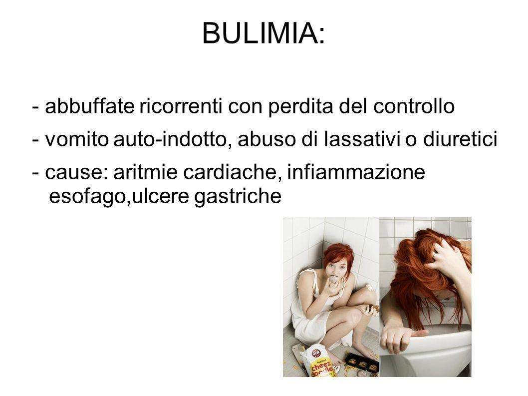 BULIMIA: - abbuffate ricorrenti con perdita del controllo