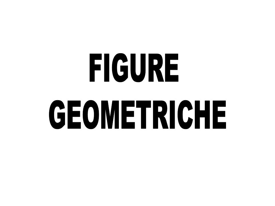 FIGURE GEOMETRICHE 1