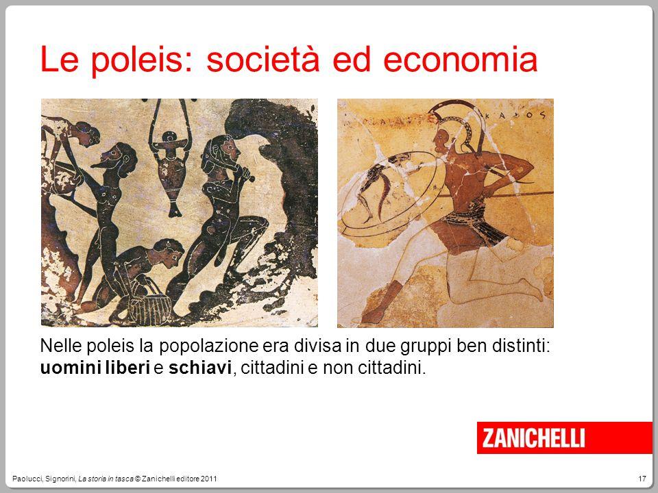 Le poleis: società ed economia