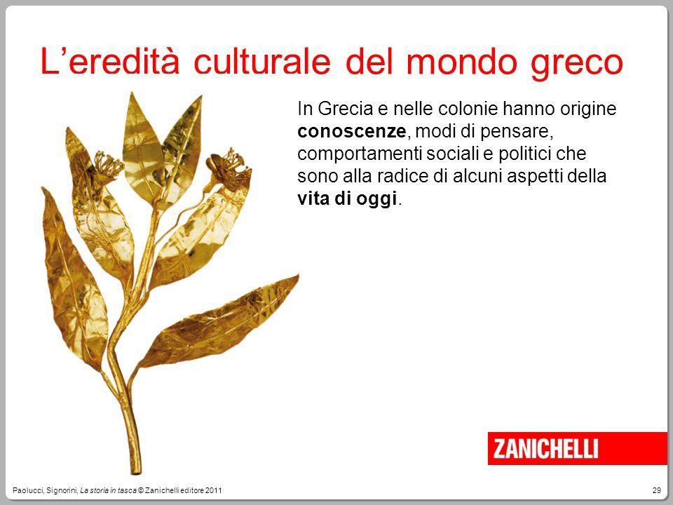 L'eredità culturale del mondo greco