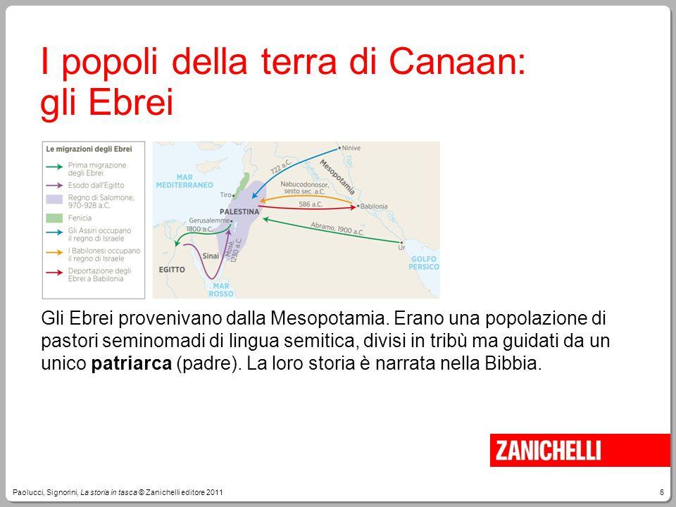 I popoli della terra di Canaan: gli Ebrei
