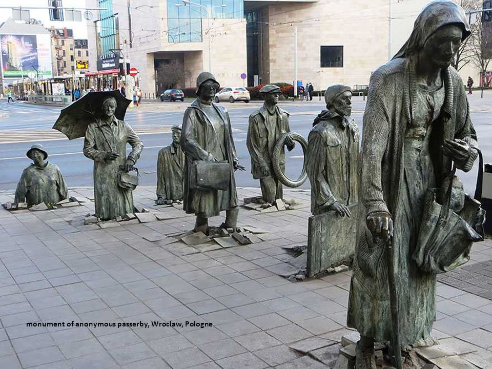 monument of anonymous passerby, Wroclaw, Pologne