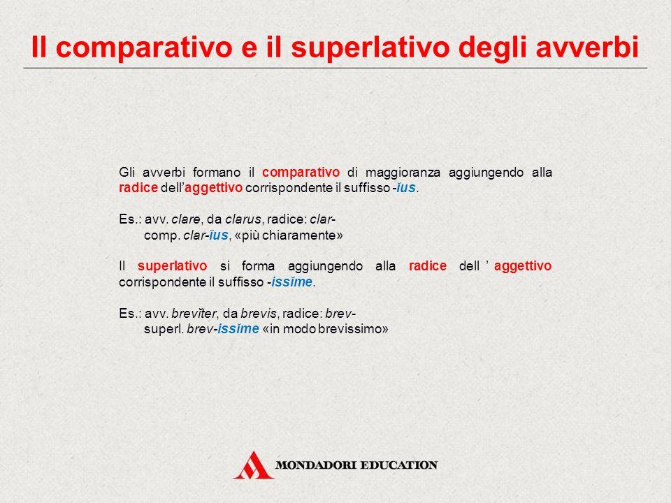 Il comparativo e il superlativo degli avverbi