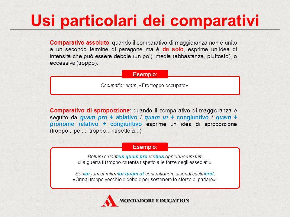Usi particolari dei comparativi