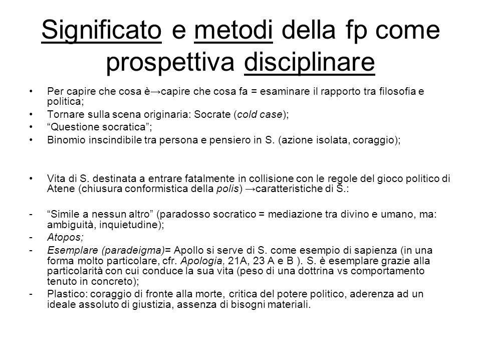 Significato e metodi della fp come prospettiva disciplinare