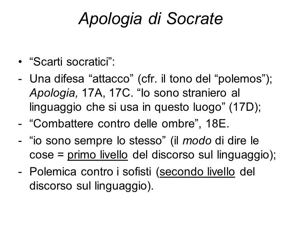 Apologia di Socrate Scarti socratici :