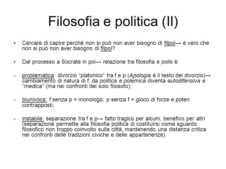 Filosofia e politica (II)